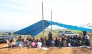 Moderamen GBKP  Letakkan Batu Pertama Pembangunan Huntara GBKP di Desa Sukamaju Kec. Tigapanah