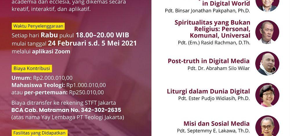 Program Bina Warga Jemaat dan Aktivis Bersertifikat STFT Jakarta
